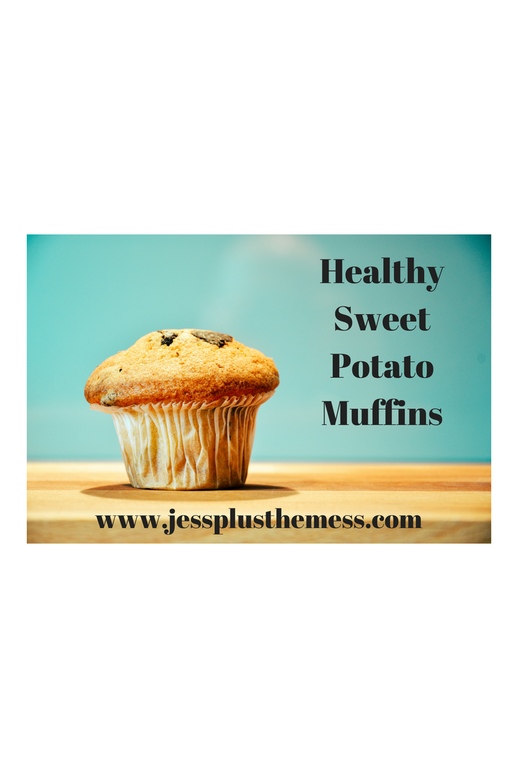 Healthy Sweet Potato Dark Chocolate Muffins