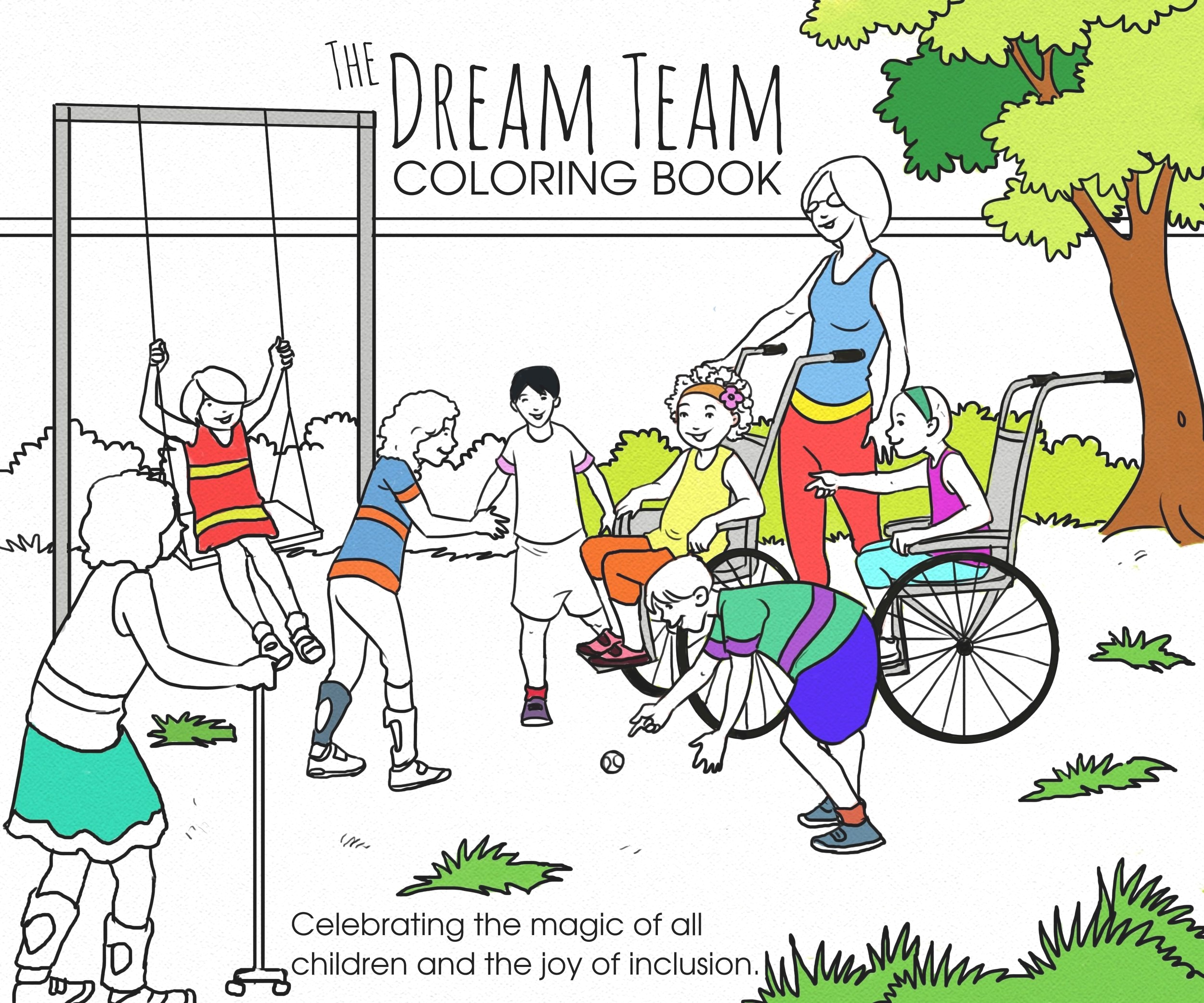 Dream Team Coloring Book – A Dream Come True for One Educator.